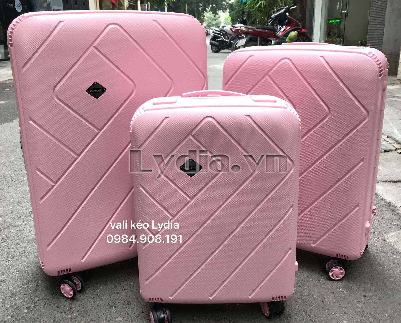 Vali kéo khung nhôm BUBULE-EL 24inch màu hồng phấn