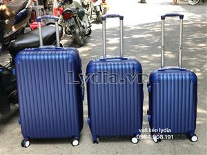 Vali kéo góc nhựa cỡ 24inch màu xanh tím than