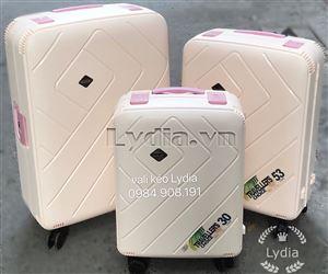 Vali kéo khung nhôm BUBULE-EL 28inch màu kem