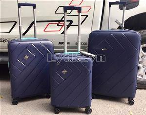 Vali kéo khung nhôm BUBULE-EL 24inch màu xanh than