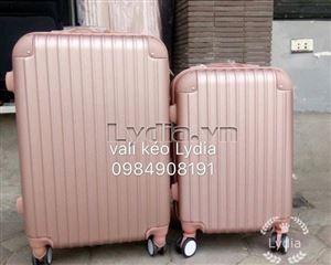 Vali kéo góc nhựa cỡ 24inch màu vàng hồng